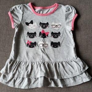 💖 7/$15 Glittery Kitty Cat Shirt